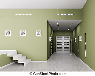 Interior of hall - Interior of modern hall 3d render