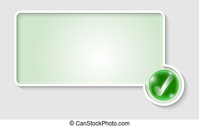 green text frame with check box