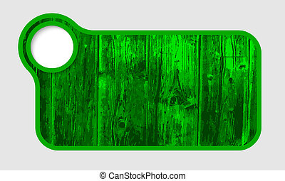 green text frame with wood texture