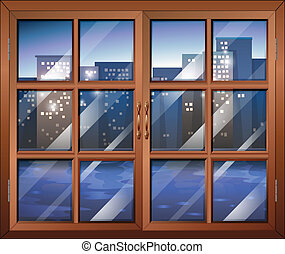 A closed window - Illustration of a closed window