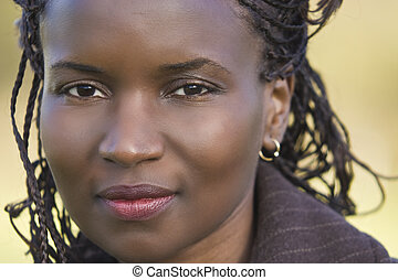 Beautiful Face - Portrait of a beautiful African American...