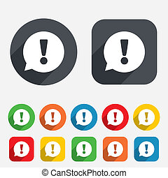 Exclamation mark sign icon Attention symbol - Exclamation...