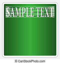 vector green text frame