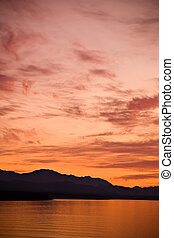 Strait of Juan de Fuca Sunset - A beautiful sunset over the...