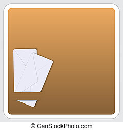 box for text with two envelope