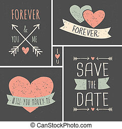 Wedding Cards Collection - Chalkboard style wedding cards in...