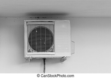 Ventilation system - Close up photo of an old and dirty...