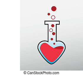 love lab logo color red and heart