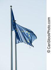 European Parliament flags