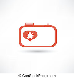 Red nice camera icon