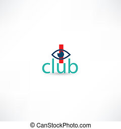 club symbol with eye