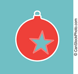 decoration on Christmas tree with star