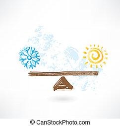 riscaldare, freddo, equilibrio