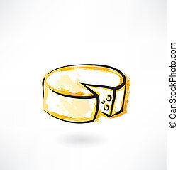 Vector Clipart of Round Cheese Head, Milk Based Product Isolated ...