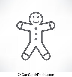 White gingerbread man