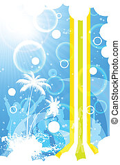 Summer Beach Party - easy to edit vector illustration of...