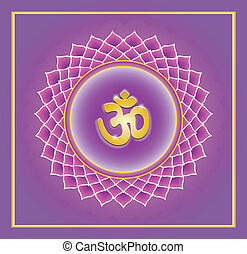 Sahasrara chakra - Sahasrara Chakra on a background of the...