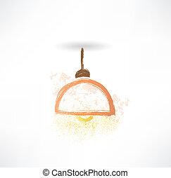 chandelier grunge icon.