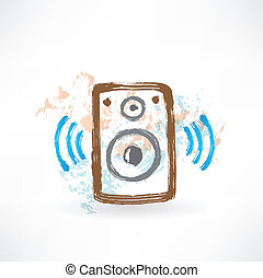 music speakers grunge icon