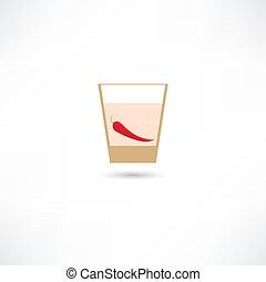 pepper in a glass