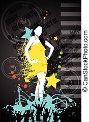 Fashionable Woman - easy to edit vector illustration of...