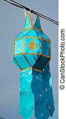 Lanna lamp for festival is Buddhist beliefs