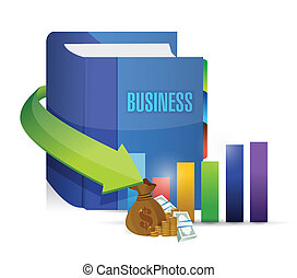 business book and graph