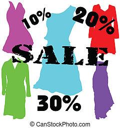 dress on sale color vector