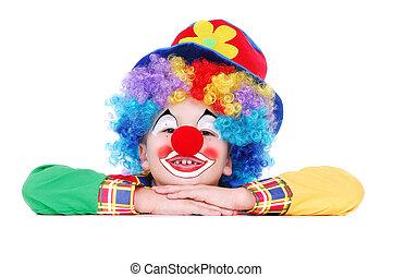 Closeup portrait of a birthday clown