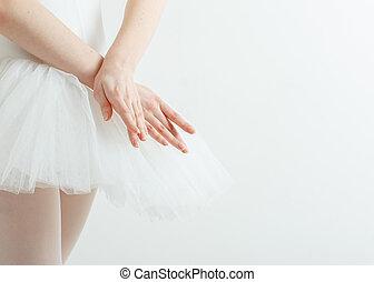 Graceful ballerina hands. Concept of lightness, beauty,...