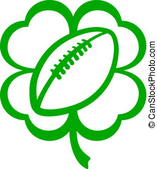 Football Four Leaf Clover