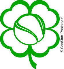 Tennis Four Leaf Clover - Vector illustration of a tennis...