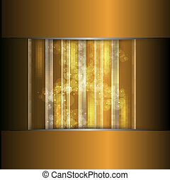 vector golden background and white pattern