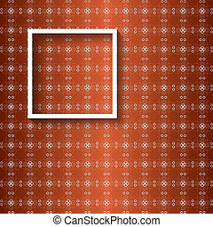 vector pattern and white frame