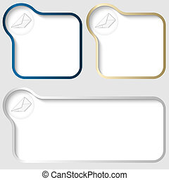 set vector text frame with envelope