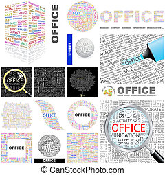 Office. Concept illustration. - Office. Word cloud...