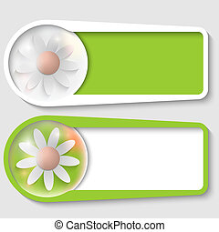 set of two boxes for any text with flower