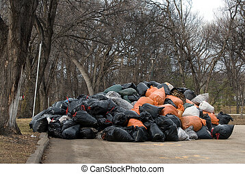 Yard Waste Drop Off Site - A drop off site of burnable yard...