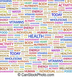 HEALTH Word cloud concept illustration Wordcloud collage