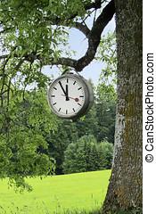 clock, five to twelve