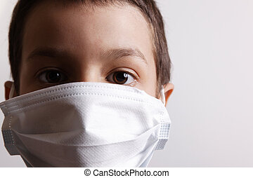 virus protection - young boy with health mask for is...