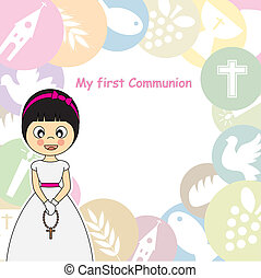 Girl First Communion Invitation