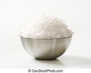 Coarse sea salt - Bowl of coarse sea salt
