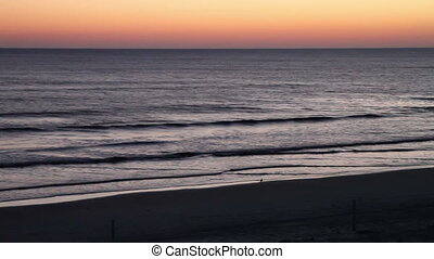 Morning overlooking the beach Daytona Beach Florida