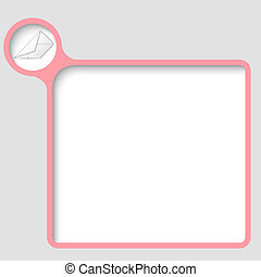 vector text frame with envelope