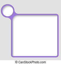 purple vector text frame