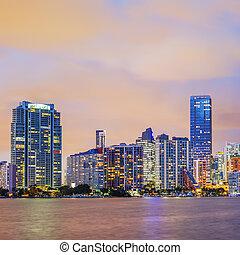 Miami Florida, sunset