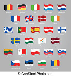 Flags of EU countries set EPS 10