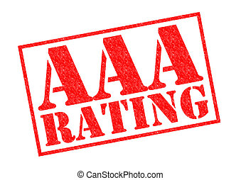 AAA RATING red Rubber Stamp over a white background
