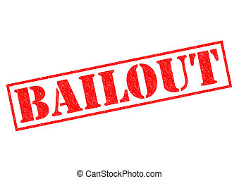 BAILOUT red Rubber Stamp over a white background